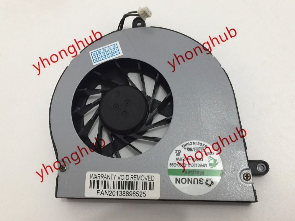SUNON MF60120V1-C201-G99 MF60120V1-C200-G99 3-wire DC 5 V 2.0 W Sunucu Laptop Fan