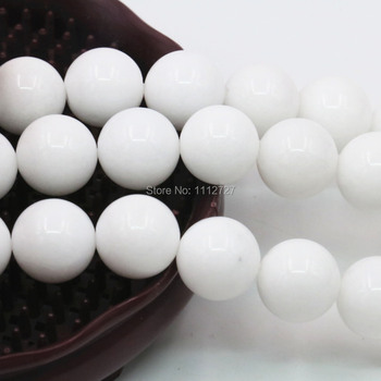 4 6 10 12mm Accessory White Semi Finished Stones Balls Gift Loose Beads Diy Round Crafts Jewelry Making Crystal Gift 15inch
