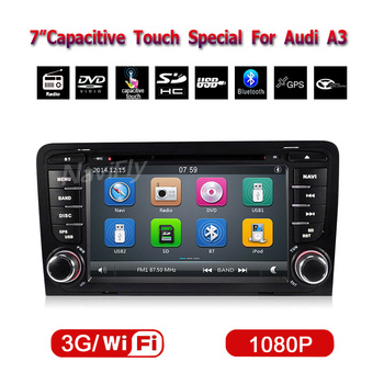 7 Inch In Dash Car DVD Player For A3 S3 2002-2011 With Canbus Wifi GPS Support Ipod BT Radio Free Map