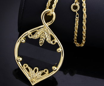 Fashion Long Necklaces For Women Magnifying Glass Reading Function Pendant 60cm Chain Gold color Christmas Gift