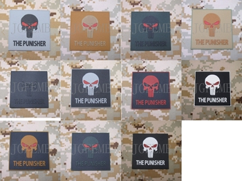PUNISHER IŞLEMELI YAMA taktik askeri Moral 3D PVC Patch